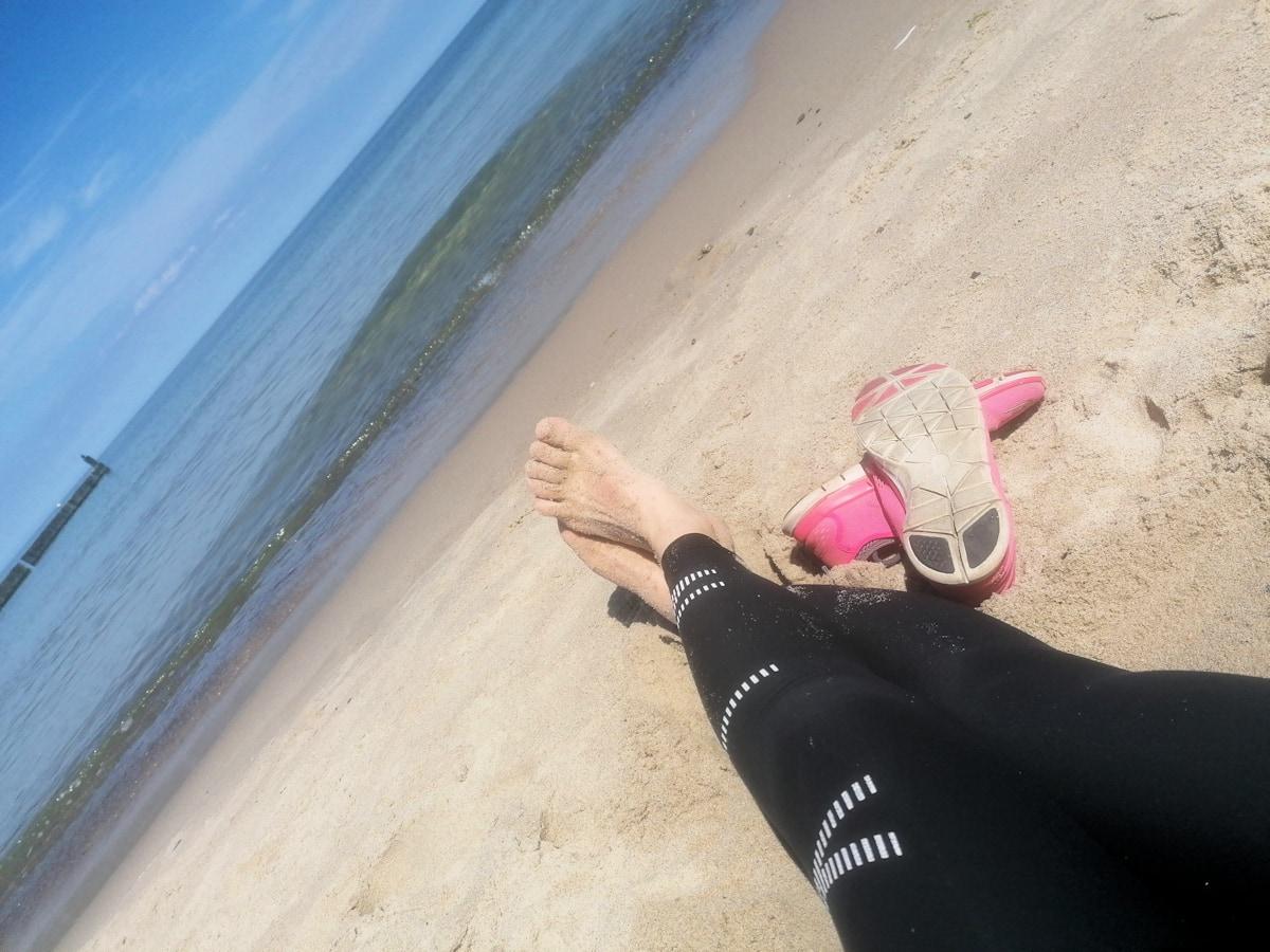 Ukochane różowe buty do biegania